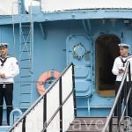 """Antiguo barco militar de la II Guerra Mundial """"Blyskawica"""" anclado en el muelle de GDYNIA. Mar Baltico. Polonia"""