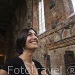 Interior de la iglesia del castillo de la antigua orden de los Teutones en Malbork. MALBORK. Polonia