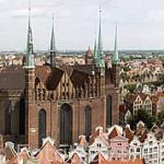 La iglesia de Santa Maria, una de las más grandes construidas en ladrillo de Europa. 1343-1502. Ciudad de GDANSK. Polonia