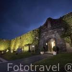 Vista de la fachada de la Pousada Santa Cruz en el interior de la fortaleza. Horta. Isla de FAIAL. Azores. Portugal