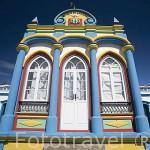 La capilla Imperio da Caridade (Praia da Victoria) es una de las 70 que hay en la isla para celebrar el Espiritu Santo. isla de TERCEIRA. Azores. Portugal