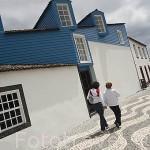 Casas en Lajes do Pico en la costa sur. Isla de PICO. Azores. Portugal
