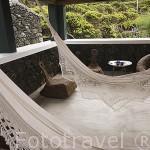 Hamacas de la casa rural Pozinho Bay. Isla de PICO. Azores. Portugal