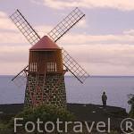 Molino de influencia flamenca cerca de San Joao. Isla de PICO. Azores. Portugal