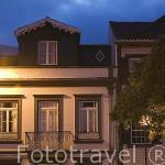 Casa decorada con baldosas. Ciudad de Horta. Isla de FAIAL. Azores. Portugal