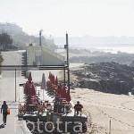 Paseo maritimo junto a la avenida Montevideo. Ciudad de OPORTO. Oceano Atlantico. Portugal