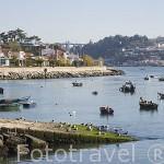 Playa Pilotos y embarcaciones de pescadores. Rio Duero. Ciudad de OPORTO. Portugal