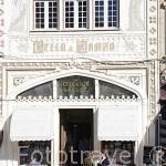 Fachada de la antigua libreria Lello. En rua das Carmelitas, 144. Ciudad de OPORTO. Portugal