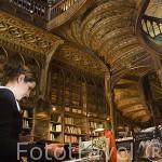 Interior de la antigua libreria Lello. Ciudad de OPORTO. Portugal M.R 091