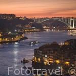 El rio Duero a su paso por la ciudad de OPORTO. Portugal