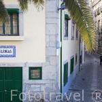 Callejuela en el barrio do Infante. Ciudad de OPORTO. Portugal
