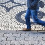 Adoquines en la calle - rua de Santa Catarina. Ciudad de OPORTO. Portuga