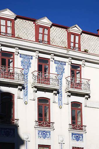 Fachada de una casa. Ciudad de OPORTO. Portugal