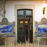 Tienda de vino Quinta Nova en la misma estación de tren. Pueblo de PINHAO. Zona de Cima Corgo. Rio Duero. Portugal