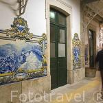 Estación de tren en el pueblo de PINHAO. Zona de Cima Corgo. Rio Duero. Portugal
