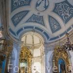 Interior. Santuario Ntra. Sra. Dos Remedios. Pueblo de LAMEGO. Zona del rio Duero. Portugal