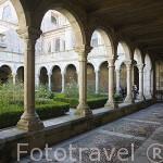 Claustro del s.XII-XIII. Romanico - gótico. La Sé catedral del pueblo de LAMEGO. Zona del rio Duero. Portugal