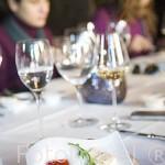 Entrante de queso gorgonzola y mermelada de fresa. Hotel Six Senses. Pueblo de SAMODAES. Zona del rio Duero. Portugal