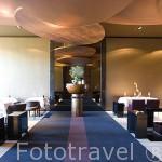 Salon comedor. Hotel y Spa Six Senses Douro Valley junto al rio Duero. Pueblo de SAMODAES. Portugal