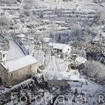 Pueblo de LAMEGO nevado. Zona del Alto Douro. Valle del Duero. Portugal