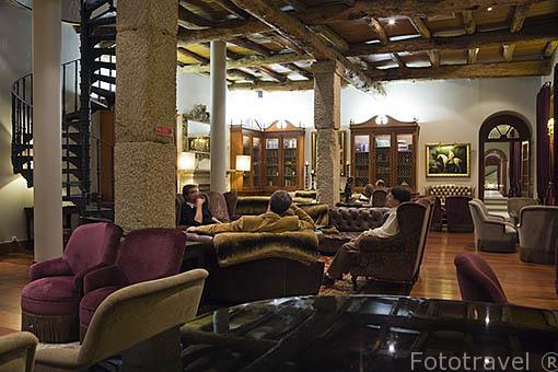 Salon. Hotel Vintage House. Poblacion de PINHAO. Valle del Duero. Portugal