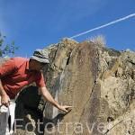 Grabados rupestres de Penascosa. Periodo Paleolitico. Parque arqueologico del Valle del Coa. Patrimonio de la UNESCO. Cerca de Casterlo Melhor. Valle del Duero. Portugal