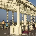 Pergola junto al mar en la avenida de Montevideo. Ciudad de OPORTO. Portugal