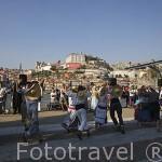 Bailes folkloricos en la zona de Gaia, detras la ciudad de OPORTO. Portugal