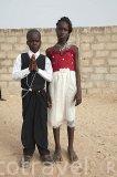 El pequeño Maurice el día de su Comunión. Poblacion de Palmarin Sessere. Delta del Saloum. Senegal. Africa