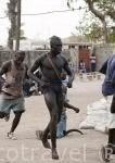 Campeonato local de lucha libre. Poblacion de Palmarin Ngueth. Delta del Saloum. Senegal. Africa