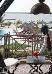 Habitación con vistas a la piscina y el delta. Hotel Delta Niominka. Delta del Saloum. Senegal. Africa
