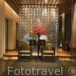 Entrada al restaurante. Hotel The Sukhothai. Ciudad de BANGKOK. Tailandia