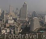 Vista panoramica de la ciudad de BANGKOK y el rio Chao Phraya. Thailandia