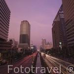 Calle de Sathorn South. Ciudad de BANGKOK. Tailandia