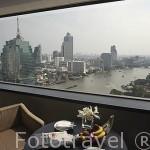 Vista del rio Chao Phraya desde una habitacion del hotel Millennium Hilton. Ciudad de BANGKOK. Tailandia