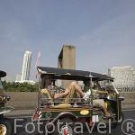 Tuk Tuk en la ciudad de BANGKOK. Tailandia