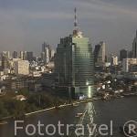 La ciudad de BANGKOK y el rio Chao Phraya. Tailandia