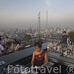 Restaurante Vertigo (Piso 61) del hotel Banyan Tree con vistas panoramicas sobre la ciudad de BANGKOK. Tailandia