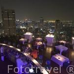 Moderno y lujoso hotel Lebua con vistas a la ciudad de BANGKOK. Tailandia