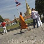 Entrada al Gran Palacio, establecido en 1782. En su interior se encuentran dependencias reales, oficinas gubernamentales asi como el Templo del Buda Esmeralda. BANGKOK. Tailandia