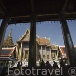 Templos varios en el interior del complejo del Gran Palacio (1782). BANGKOK. Tailandia