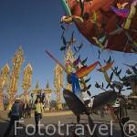 Monumento Tung en el Triangulo de Oro. Poblacion de CHIANG SAEN. Chiang Rai. Tailandia