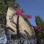 Monumento en forma de dragon. Templo Phu Kao. Triangulo de Oro. CHIANG RAI. Tailandia