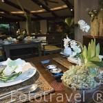 Restaurante del exclusivo hotel Rayavadee. HAT PHRA NANG. Krabi. Tailandia