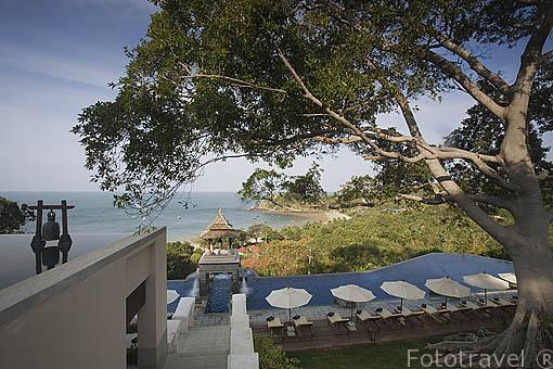 Vista panoramica del hotel - Spa Pimalai. Sur de la isla de KO LANTA YAI. Tailandia