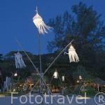 Complejo del hotel - Spa Pimalai desde la playa. Sur de la isla de KO LANTA YAI. Tailandia