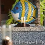 Detalle de un pez en escayola. Hotel Spa Amari Trang sobre el Mar de Andaman. TRANG. Tailandia