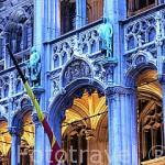 Fachada del ayuntamiento de la ciudad de BRUSELAS. Belgica