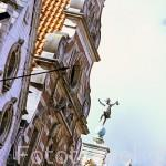 Detalle de un edificio en su fachada. Plaza Mayor. LOVAINA. Belgica