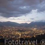 Vista de la ciudad de MEDELLIN desde el Mirador de las Palmas. Departamento de Antioquia. MEDELLIN. Colombia
